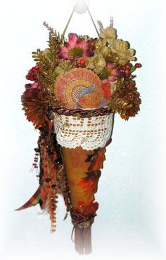 Thanksgiving Tussy Mussy Victorian Paper Cone