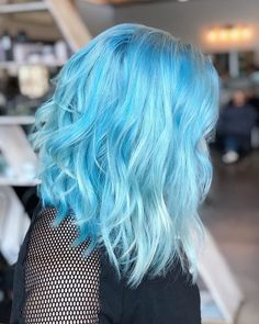 142 pastel hair colors that will make you consider dying your hair Hair Dye Colors, Ombre Hair Color, Cool Hair Color, Hair Lights, Dying Your Hair, Dye My Hair, Light Blue Hair, Pastel Blue Hair, Short Pastel Hair