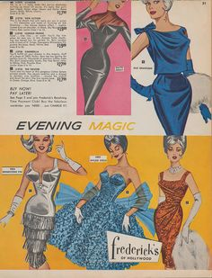 Evening Magic Page 29 of the Spring 1962 Fredericks of Hollywood catalog.