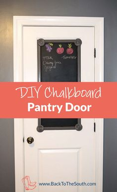Never have pen and paper around when you need it?  Create this DIY chalkboard kitchen panel!  www.BackToTheSouth.com