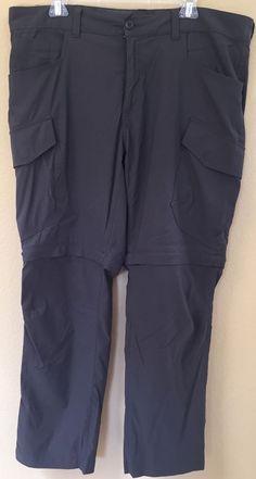 38x30 Eddie Bauer Travex Convertible Men's Pants Grey Hiking Camping Fishing | eBay