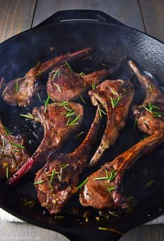 Lamb Lollipops with Garlic and Rosemary Recipe.