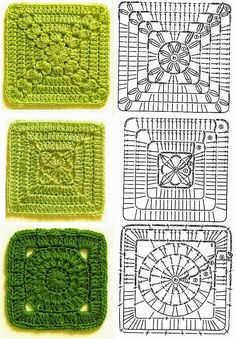 Transcendent Crochet a Solid Granny Square Ideas. Inconceivable Crochet a Solid Granny Square Ideas. Crochet Motifs, Granny Square Crochet Pattern, Crochet Diagram, Crochet Blocks, Crochet Chart, Crochet Squares, Crochet Patterns, Granny Squares, Knitting Patterns