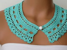 Lace Collar .Crochet Peter Pan Collarby by EmofoFashion on Etsy, $23.00
