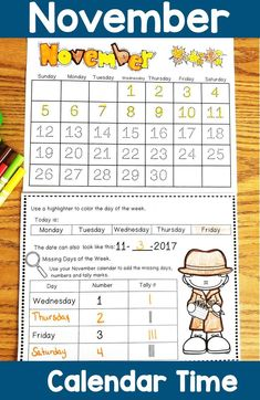 Math Meeting for November. Use these November themed calendar journal activities to enhance your morning meeting times. Perfect for morning work and more! Kindergarten Activities, Learning Activities, Teaching Ideas, Calendar Activities, Hands On Activities, Teacher Created Resources, Teacher Resources, September Themes, November