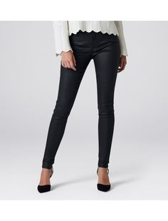 Ivy Mid Rise Full Length Skinny Jeans Wax Black - Womens Fashion | Forever New