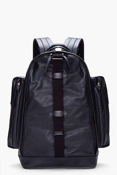 Givenchy Black Leather Backpack for Men   SSENSE