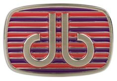 DB Purple and Pink Stripe Buckle by Druh Belts.  Buy it @ ReadyGolf.com