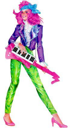 ♥ Jem and the Holograms, Rio, Jerrica, Kimber, Aja, Shana, Raya, Pizzaz, Stormer, Roxy, Clash, Dance, Jetta ♥Kimber Alternative Outfit.