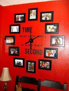 This is a great way to display family pictures on a wall.