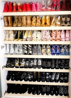 Joannaladrido's Shoe closet! Take a sneak peek of her shoe collection at shoephoric.com! http://shoephoric.com/1549