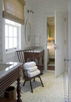 Cozy Bathroom from Phoebe Howard - great wave floor tile