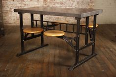 Swing Out Breakfast Table /  This would be great for a small space, where there's no room for chairs.