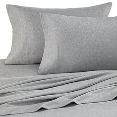 Bed Bath And Beyond Jersey Sheets Delectable New Pinzon Heather Jersey Sheet Set Queen Light Grey Heather Inspiration