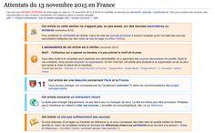 Comment #Wikipédia a écrit l'histoire des attentats du 13 novembre