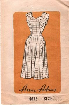 Downloadable apron pattern