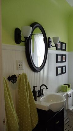 fresh cut grass benjamin moore green paint color...bathroom
