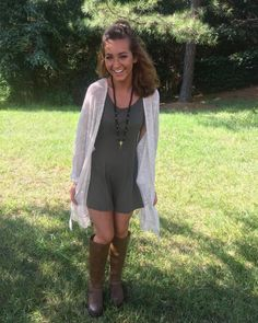 Cardigans are the perfect way to transition from summer to fall!...