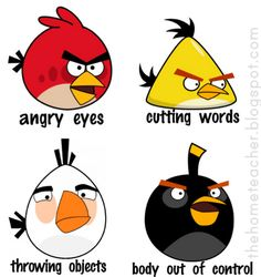 Don't Be an Angry Bird -FHE{lesson on controlling emotions}. I really want to print this out and do this for FHE . the boys love Angry Birds. How To Control Emotions, How To Express Feelings, Controlling Emotions, Anger Control, Impulse Control, Family Home Evening, Family Night, Coping Skills, Social Skills