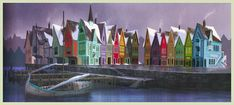Arendelle concept art by James Finch