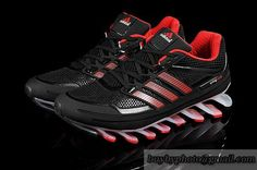 Men's Adidas Springblade 1 Running Shoes A  Black Red|only US$88.00 - follow me to pick up couopons.