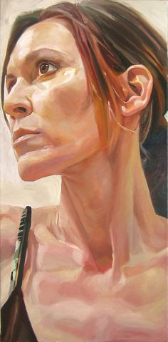 Lori 2, 48 x 24, oil on canvas, by Stephen Wright.