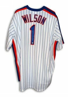 db30392bd Mookie Wilson Autographed Jersey - with