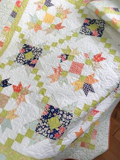 New Patterns by Carried Away Quilting: Purely Petals and Wallflowers featuring Coney Island by Fig Tree & Company for Moda