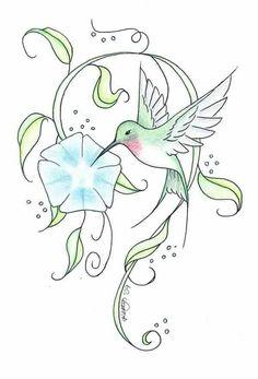 Hummingbird Tattoo Meaning, Hummingbird Sketch, Pin Up Girl Tattoo, Vogel Tattoo, Weird Tattoos, Tattoo Flash Art, Bird Drawings, Tattoo Sketches, Flower Tattoos