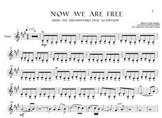 """Now We Are Free (From """"Gladiator) VIOLIN Sheet Music"""