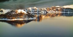 Morning chill at  Crater Lake,