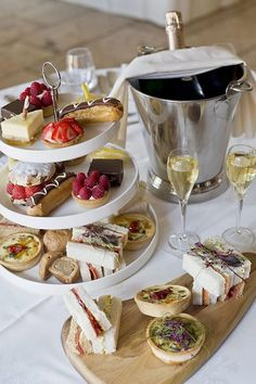 Afternoon tea but with champagne and not tea