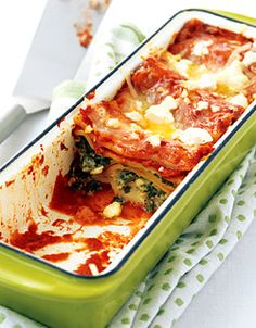 Spinach and Feta Lasagna via Canadian Family ok LOVE the dish!!!!! @ ...