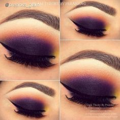 Purple and orange smokey.