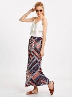 #دامن صورتی چاپی Harem Pants, Skirts, Fashion, Moda, Harem Trousers, Fashion Styles, Harlem Pants, Skirt