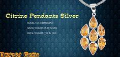 Citrine Pendants Silver