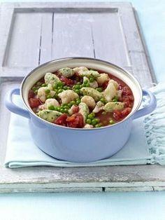 Gemüse-Eintopf mit Kräuter-Parmesan-Klößchen (330 kcal)