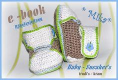 Häkelanleitung - E-Book  Baby-Sneaker's von trudi`s-kram auf DaWanda.com