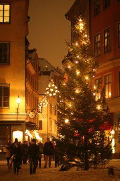 Gamla Stan (the Old Town) Christmas Market, Stockholm, Sweden Sweden Christmas, Winter Christmas, Christmas Lights, Christmas Time, Xmas, Christmas Markets, Merry Christmas, Scandinavian Countries, Scandinavian Christmas