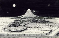 Tolkien's own drawing of The Hobbit landscape. - The Hobbit as depicted in art over the decades Tolkien Hobbit, O Hobbit, Lotr, Hobbit Art, Hobbit Hole, Tolkien Drawings, Pen Drawings, John Howe, Middle Earth