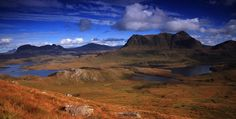 Suilven, Canisp and Cul Mor, from Stac Polliadh. Photograph JDMadPherson.