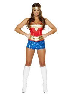 Women's Sexy Heroine Hottie Costume | Sexy Super Heroes Halloween Costumes