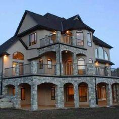 Stone exterior house