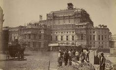 Chantier de construction de l'Opéra Garnier vers 1866 - Chantier de construction de l'Opéra Garnier à Paris vers 1866 photo Louis-Émile Durandelle (?)