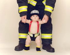 Wish I had seen this when mine were babies! Crochet Baby Fireman Helmet, Boots and Diaper Cover Set - Fireman Hat, Fireman Booties, Fireman Diaper Cover - Made to Order Baby Kind, Baby Love, Baby Baby, Newborn Pictures, Baby Pictures, Fireman Hat, Fireman Outfit, Firefighter Pictures, Crochet Baby Clothes