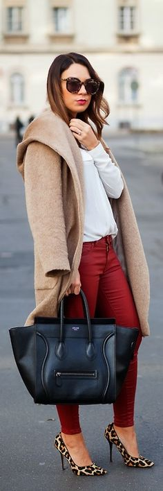 Camel & Burgundy / CashmereinStyle / i have all the clothes to make this happen