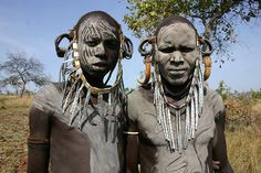 Mursi Men from Ethiopia.