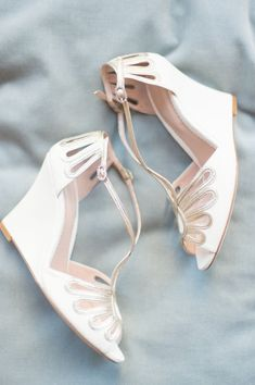 Leila Wedge Ivory Wedding Sandal | Emmy London