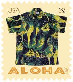 26cc113b0 Postal Service celebrates Hawaii's iconic aloha shirts with new postcard  stamps set