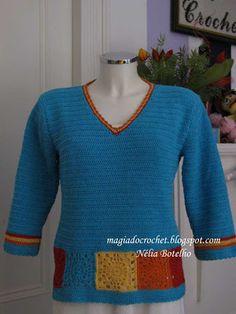 Magia do Crochet: blusas em crochet - senhora